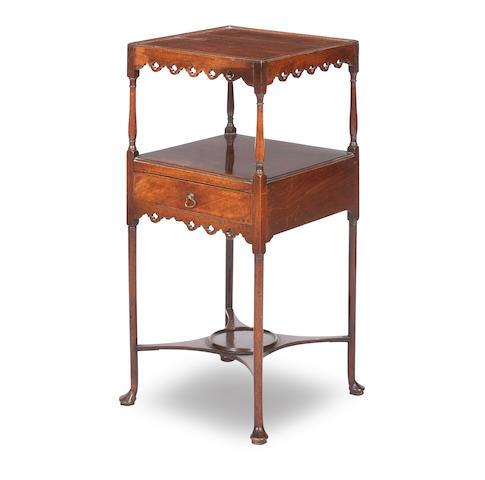 A George III mahogany wash stand