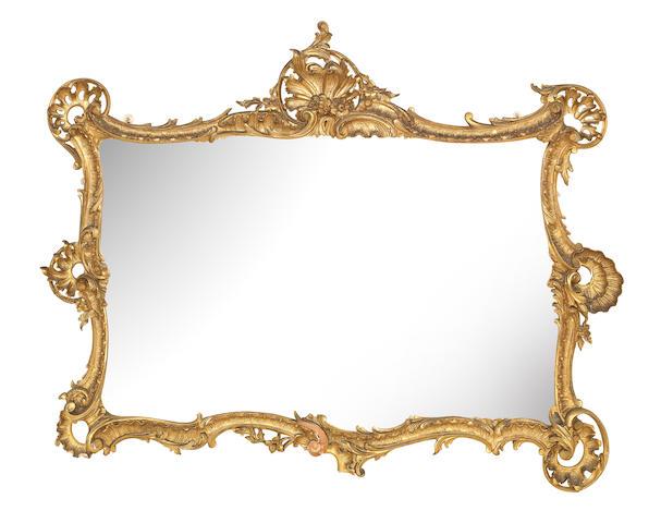 A 19th century giltwood and gesso rococo mirror