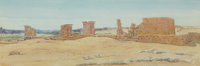 Richard Phene Spiers (British, 1838-1916) Temple of Dabod, Nubia 1866