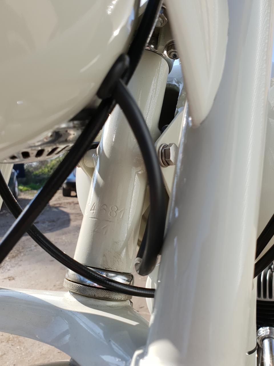 c.1954 MV Agusta 125cc Pullman Frame no. 504681 Engine no. 505121