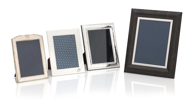 A group of six modern silver-mounted photograph frames various makers and dates  (8)