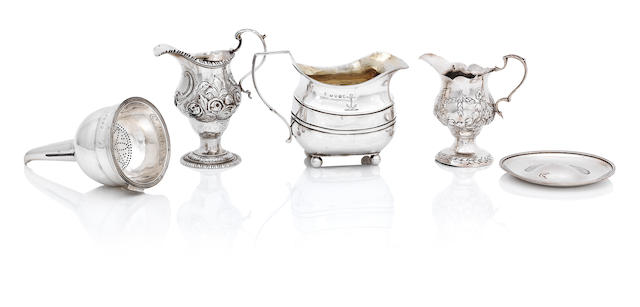 A George III silver wine funnel by Charles Chesterman II, London 1808  (6)