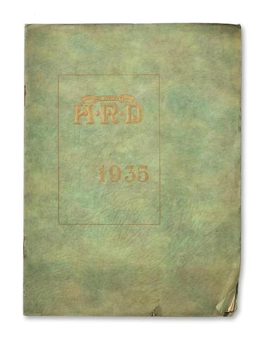 A rare 1935 Vincent-HRD Sales Brochure