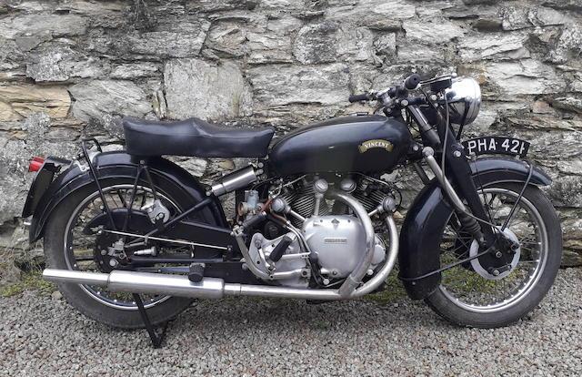 1951 Vincent 998cc Series-C Touring Rapide Frame no. RC 7099 Engine no. F10AB/1/5199 Crankcase mating nos. JJ50 / JJ50