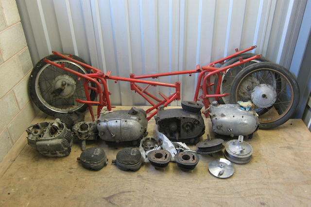 A large quantity of believed Gilera parts  ((Qty))