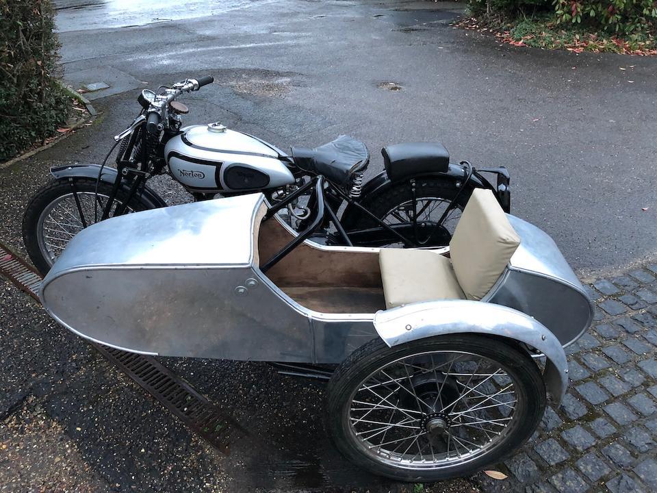 c.1939 Norton 490cc 16H/ES2 Trials Motorcycle Combination Frame no. 108360 Engine no. 76087