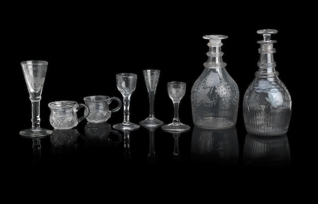 A collection of Irish glass