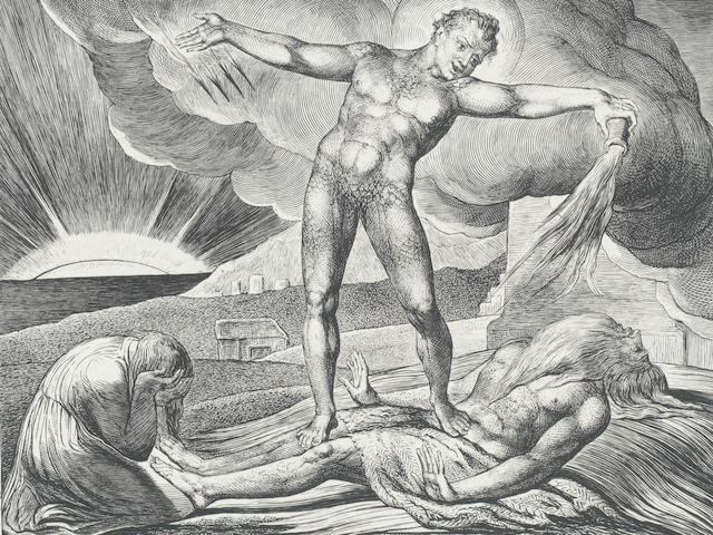 """BLAKE (WILLIAM) Illustrations of The Book of Job, ONE OF 215 """"PROOF COPIES"""", William Blake, 8 March 1825 [but 1826]"""
