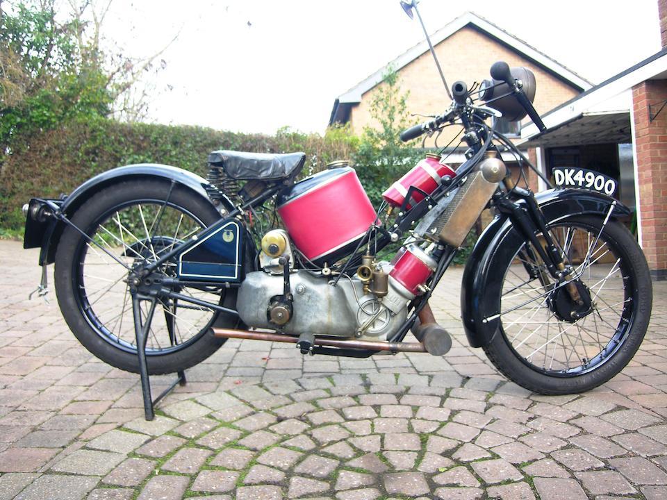 1928 Scott 596cc 3 Speed Super Squirrel Frame no. 1600 Engine no. Y777A