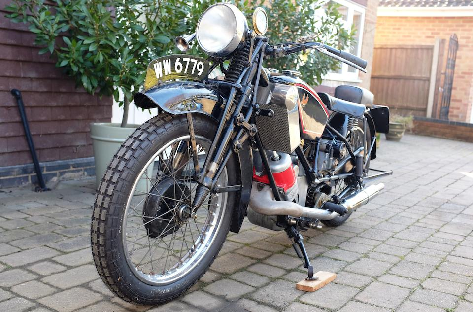 1928 Scott 596cc Flying Squirrel Frame no. 2027M Engine no. FY1139A (see text)