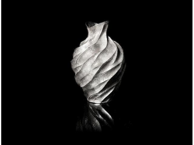 HIROSHI SUZUKI: A silver vase 'Aqua-Poesy VII' London 2005, 999 Fine standard