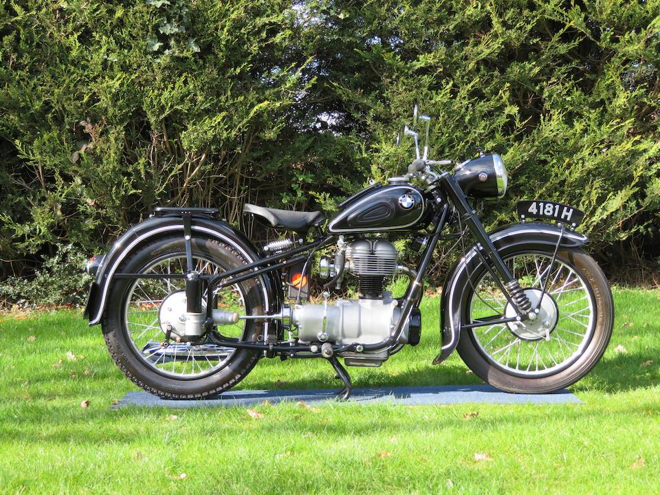 1952 BMW 247cc R25/2 Frame no. 250126 Engine no. 250126