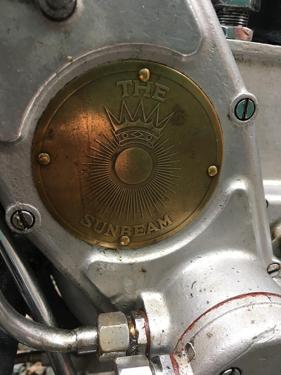 1930 Sunbeam 493cc Model 9 Frame no. LL 4242 (over-stamped) Engine no. L4773