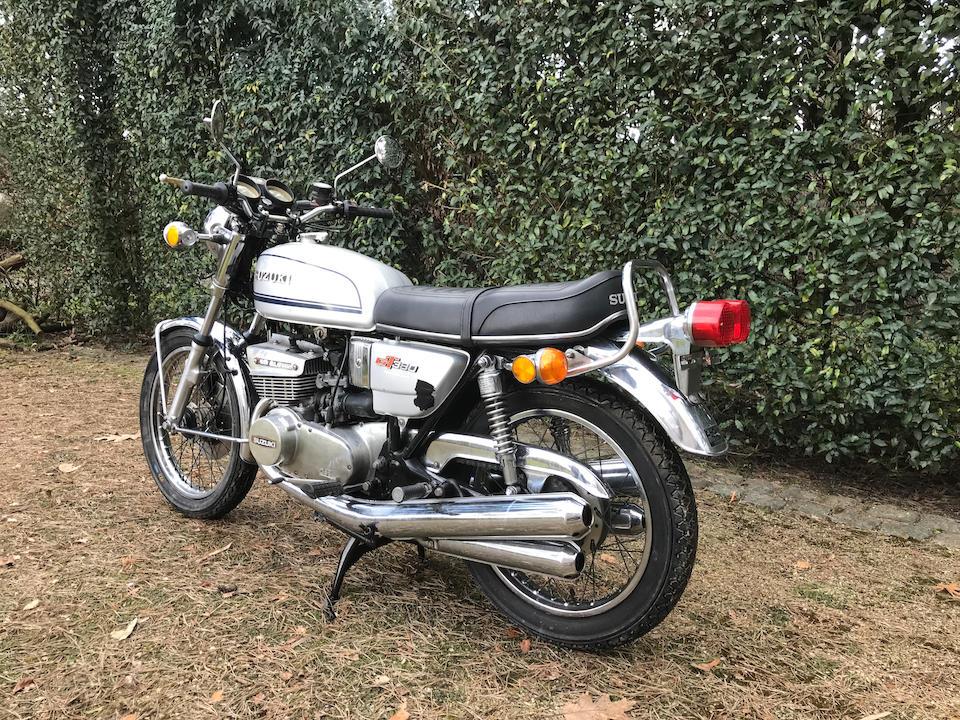 1975 Suzuki GT380J Frame no. 83488 Engine no. 92704
