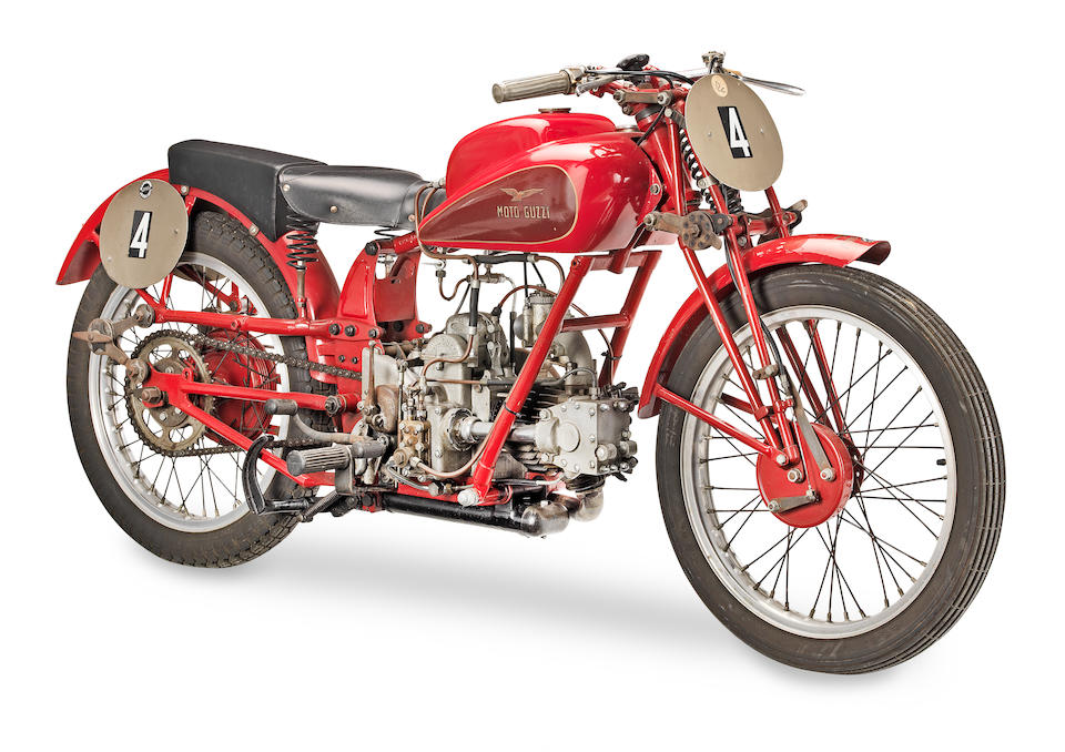 c.1935 Moto Guzzi 250cc Racing Motorcycle Frame no. 1.P.E.4004 & 27244 Engine no. D209