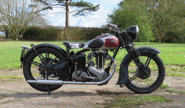 1939 Ariel 499cc Model VG Frame no. XG-7867 Engine no. CE-2127