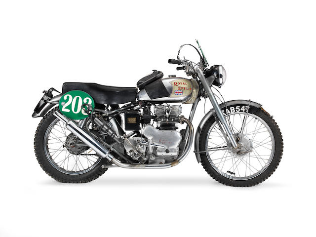 The ex-works; Jack Stocker; 1951 ISDT Gold Medal-winning, 1951 Royal Enfield 495cc Twin Frame no. T1870 Engine no. T2423 (also stamped W2515 to crankcase)