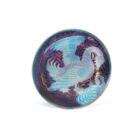 An Earthenware Lustre 'Sunset and Moonlit Suite' Dish by William de Morgan PAINTED MARK 'C.P.', CIRCA 1900