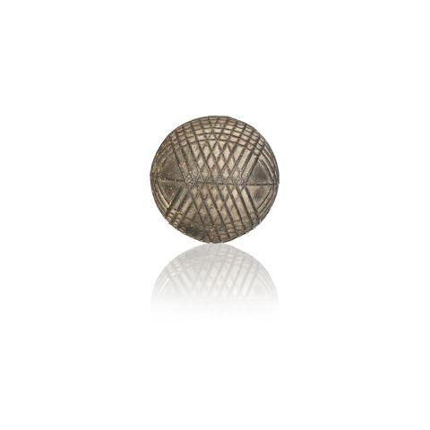 UNKNOWN MAKER: A UNIQUE PATENTED PROTOTYPE RUBBER CORED GOLF BALL, CIRCA 1905