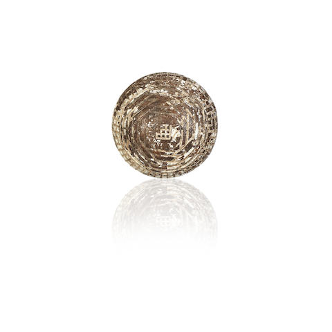 ALEX PATRICK: A 'PERFECTOR' HAND HAMMERED GUTTA-PERCHA GOLF BALL, CIRCA 1880