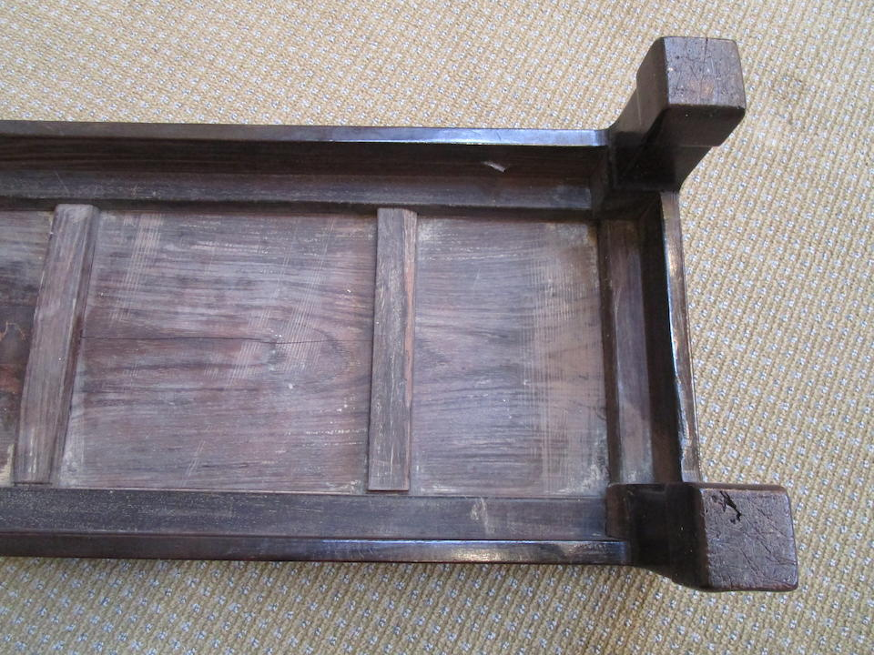 A varied group of wood stands and a foot stool Qing Dynasty and later (qnty)