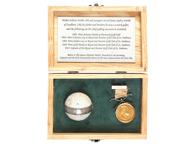 ROYAL & ANCIENT: THE QUEEN ADELAIDE GOLD MEDAL FOR 1912 ((2))