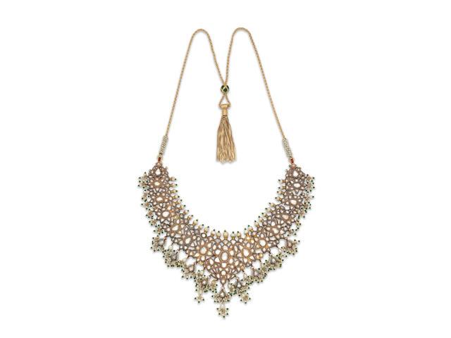 A diamond-set enamelled gold necklace Jaipur, India