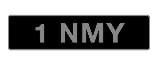UK Vehicle registration number '1 NMY',