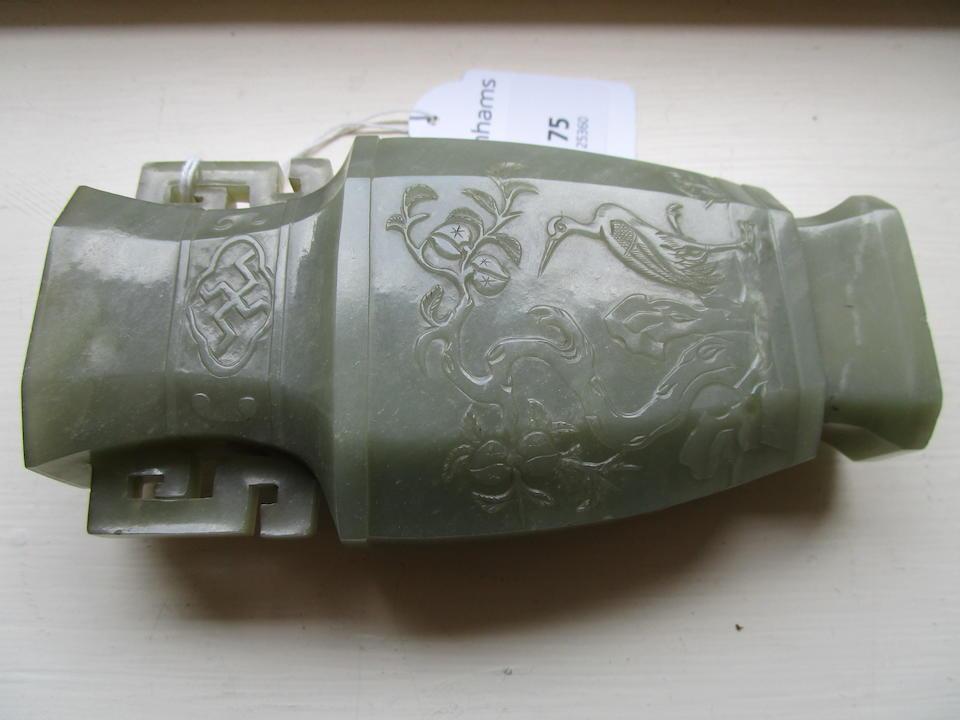 A jade vase 19th century