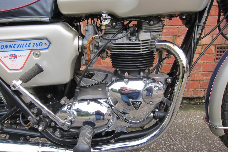 1977 Triumph 744cc T140J Silver Jubilee Bonneville Frame no. T140V CP81571J Engine no. T140V CP81571J