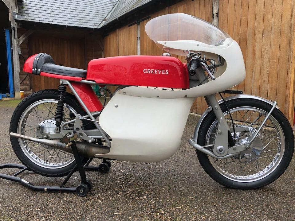 Formerly owned and restored by Mick Grant, 1967 Greeves 246cc RES Silverstone Racing Motorcycle Frame no. 24RES 121 Engine no. to be advised