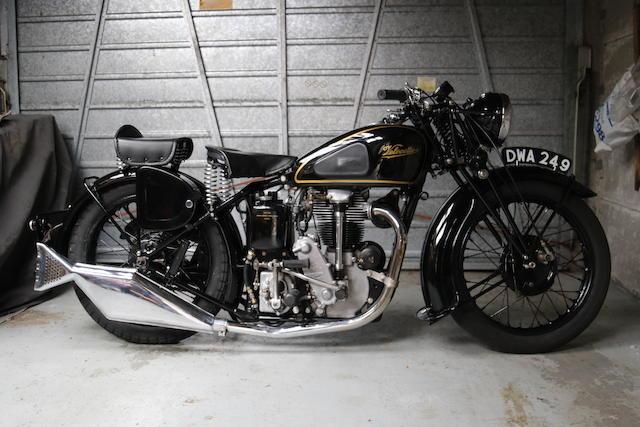 1937 Velocette 348cc KTS Frame no. 3006 Engine no. 7735