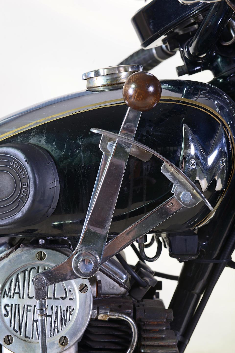 1934 Matchless 592cc Silver Hawk Frame no. 964 Engine no. 34B 1855