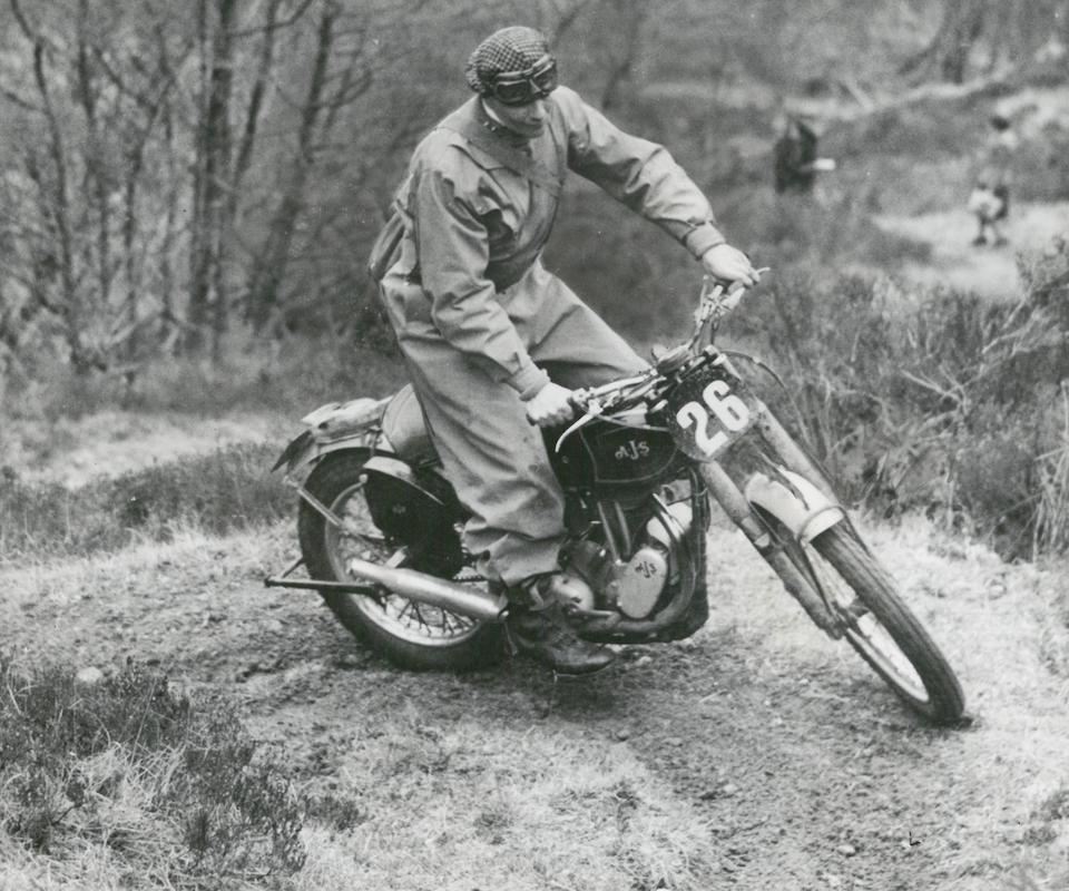 Ex-works; Hugh Viney; 1947 Scottish Six Days Trial-winning, 1946 AJS 348cc 16MC Trials Frame no. 582/C Engine no. 47/16MC 489