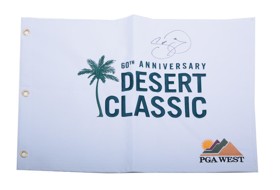 60TH ANNIVERSARY DESERT CLASSIC: 4 PGA GOLF FLAGS