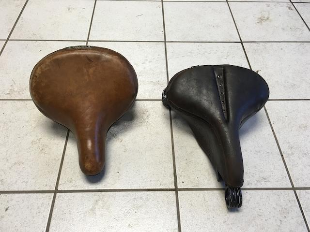 Two believed Vintage Brooks saddles  ((2))