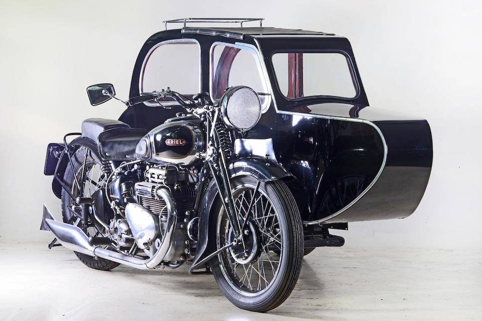 1938 Ariel 995cc Square Four & Busmar Sidecar Frame no. P769 Engine no. DD749