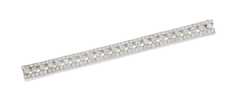 A diamond bracelet, by Van Cleef & Arpels