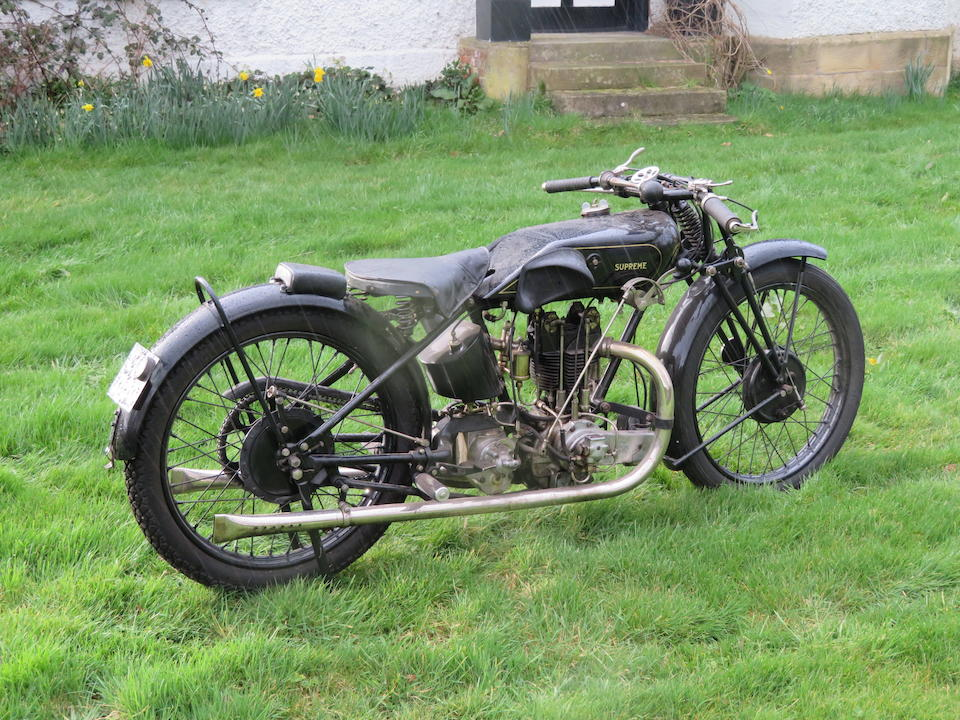 Reputedly ex-works; Frank Longman; 1928 IoM Lightweight TT-winning, 1928 OK Supreme 250cc TT Racing Motorcycle Frame no. 11282 Engine no. PORY/C 13680/S
