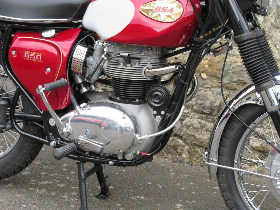 1969 BSA 654cc Firebird Street Scrambler Frame no. AC 16960 A65F Engine no. AC 16960 A65F