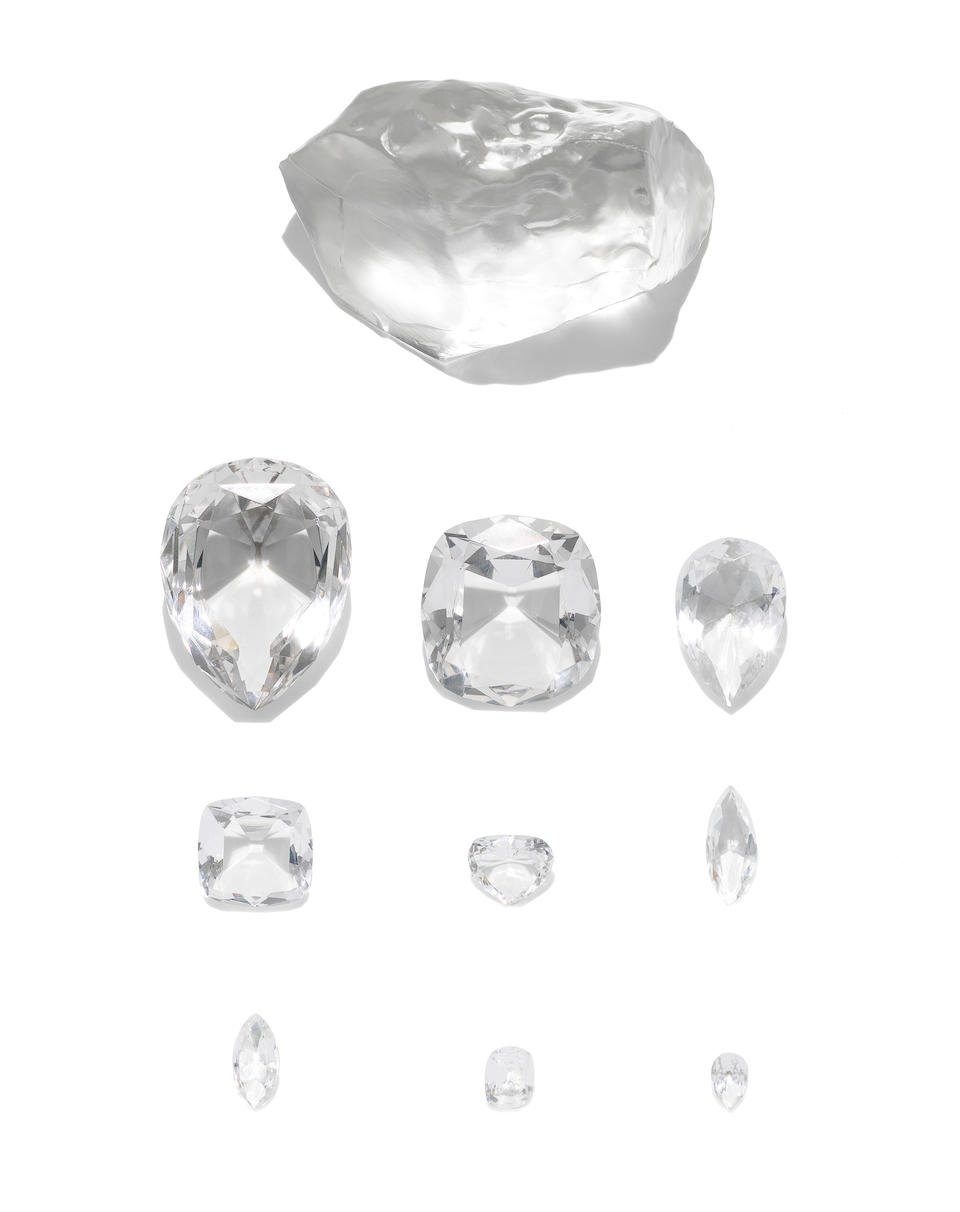 M.J Levy & Nephews Copy of the 'Agreement for the Inspection of the Cullinan Diamond' together with two replica sets of 'The Cullinan Diamonds', and other documentation and images relating to the cutting of The Cullinan