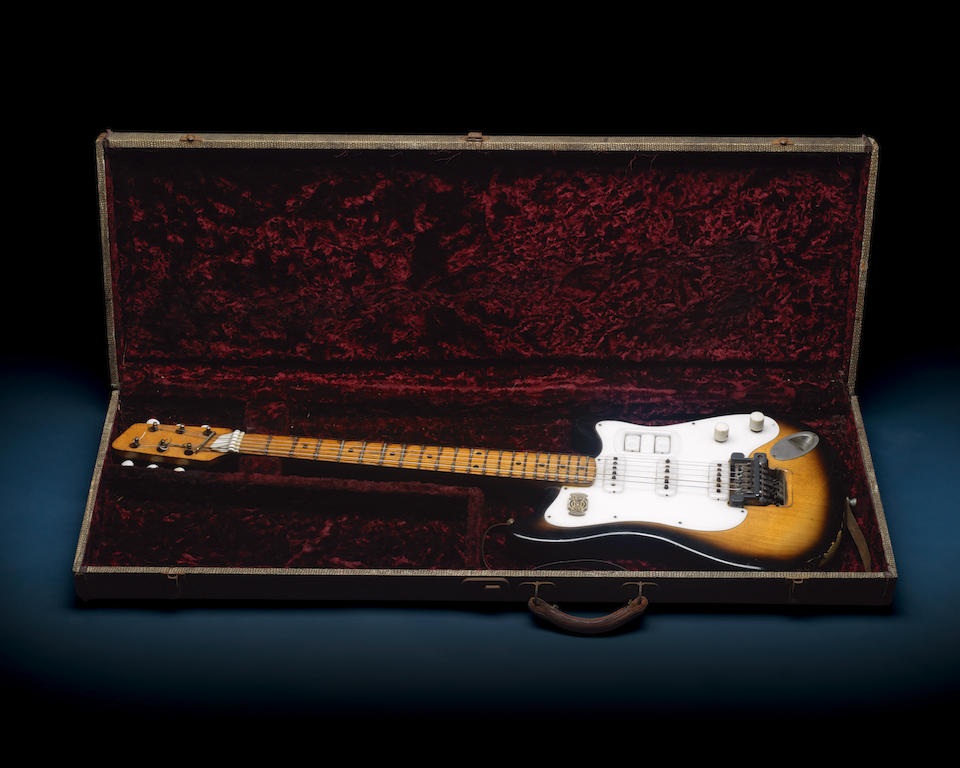 The Beatles: George Harrison's personally owned and played Futurama electric guitar, used on the famous Hamburg tours, circa 1958,