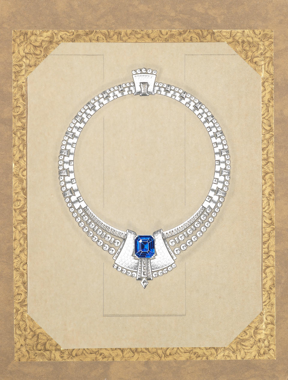 A diamond and sapphire transformable necklace,  by Grassy,
