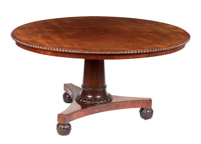 A Scottish George IV mahogany breakfast table