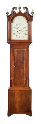 A 19th century mahogany longcase clock The dial inscribed 'Sam Ritchie, Forfar'