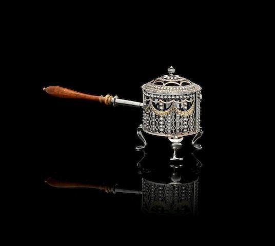 A steel perfume burnerTula, circa 1800