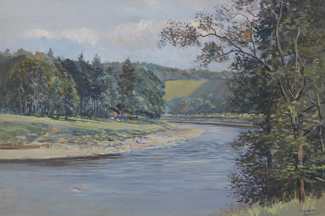 Harold Frank Wallace (British, 1881-1962) The Spey at Carron