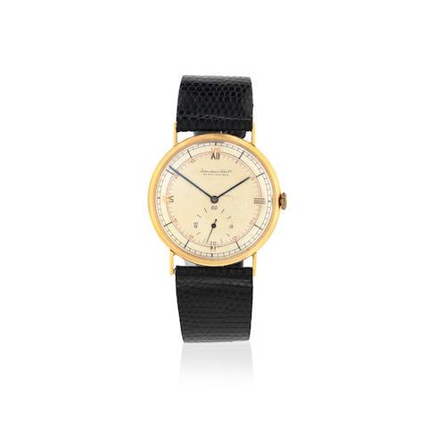 International Watch Company. An 18K gold manual wind wristwatch Circa 1938