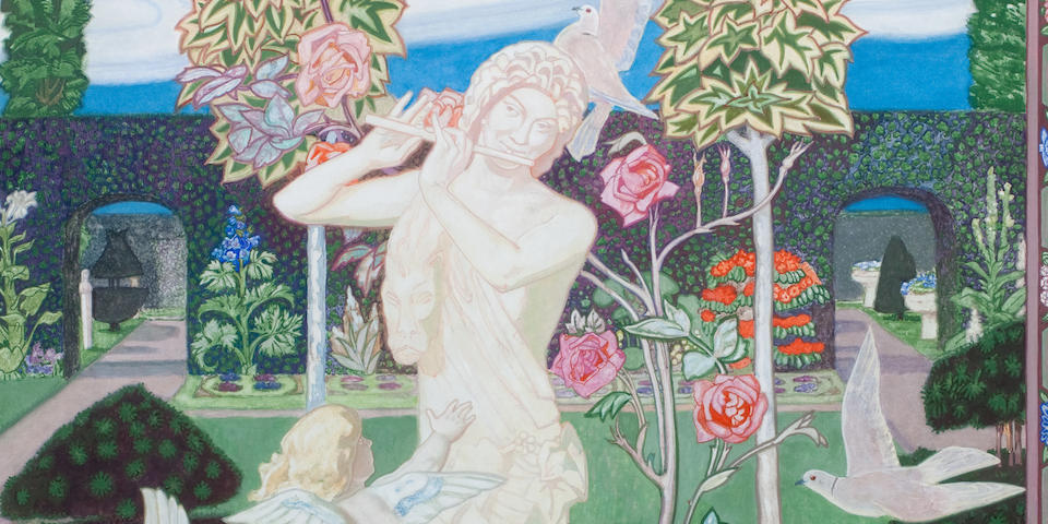 John  Duncan RSA RSW (1866-1945) The Garden 120.5 x 120.5 cm. (47 7/16 x 47 7/16 in.)