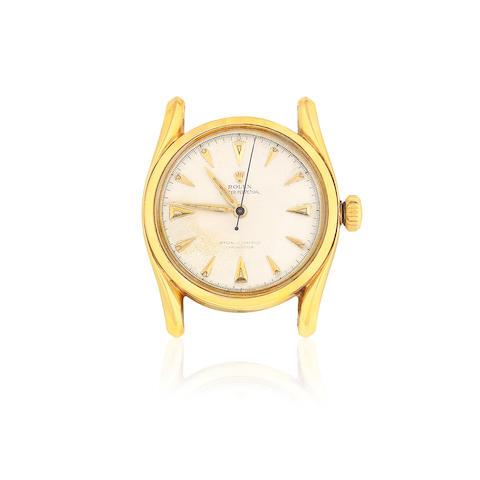 Rolex. A 14K gold automatic watch  Oyster Perpetual 'Bombay', Ref: 6090, Circa 1960